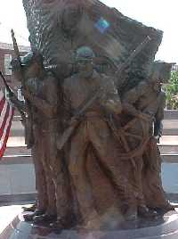 Statue / monument of  African-American Civil War Memorial in Washington DC by Sculptor