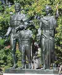 Statue / monument of  Boy Scout Memorial in Washington DC by Sculptor Donald DeLue