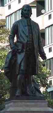 Statue / monument of John Witherspoon in Washington DC by Sculptor William Couper